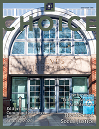 Choice Reviews cover featuring Reeves Library