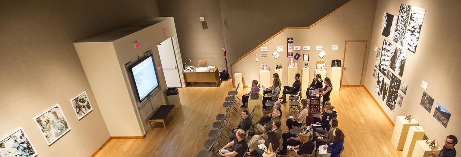 Payne Gallery Exhibition Calendar, senior presentation