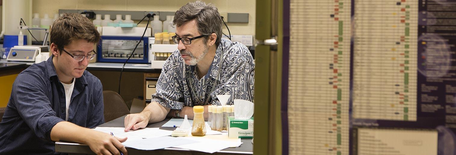 Kyle Goodbred (Biology 2013) & Dr. Christopher Jones