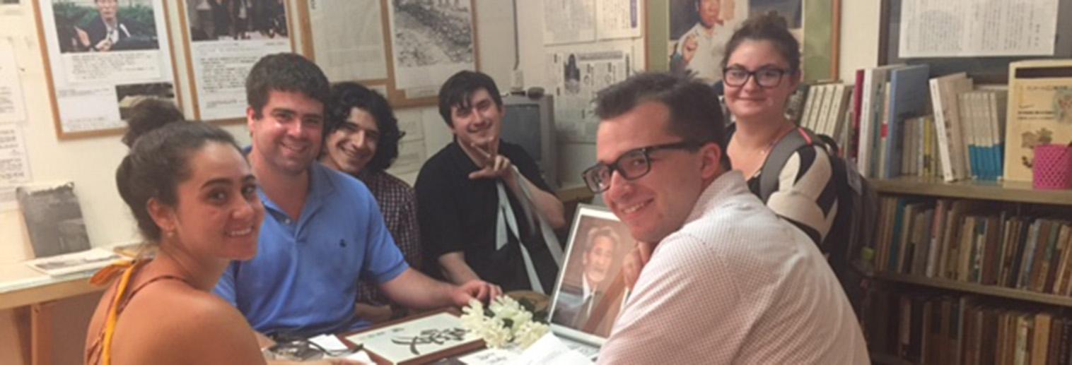 Moravian University Global Religion students enjoying a museum