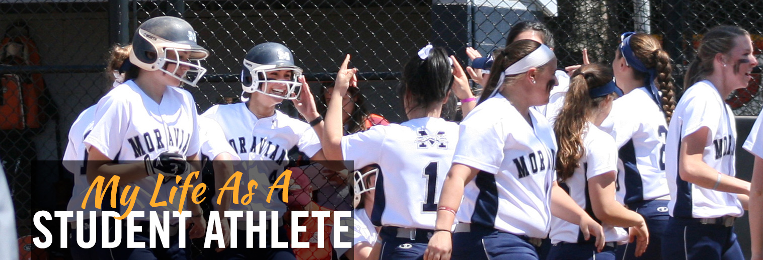 image of Women's Softball team getting ready for game on field