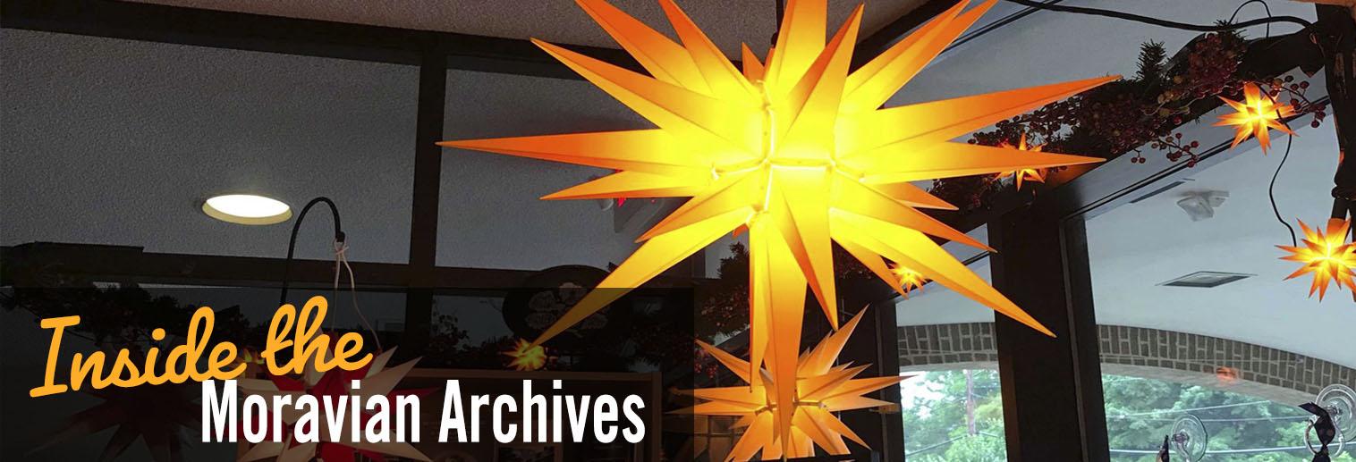 image of hanging Moravian star lights