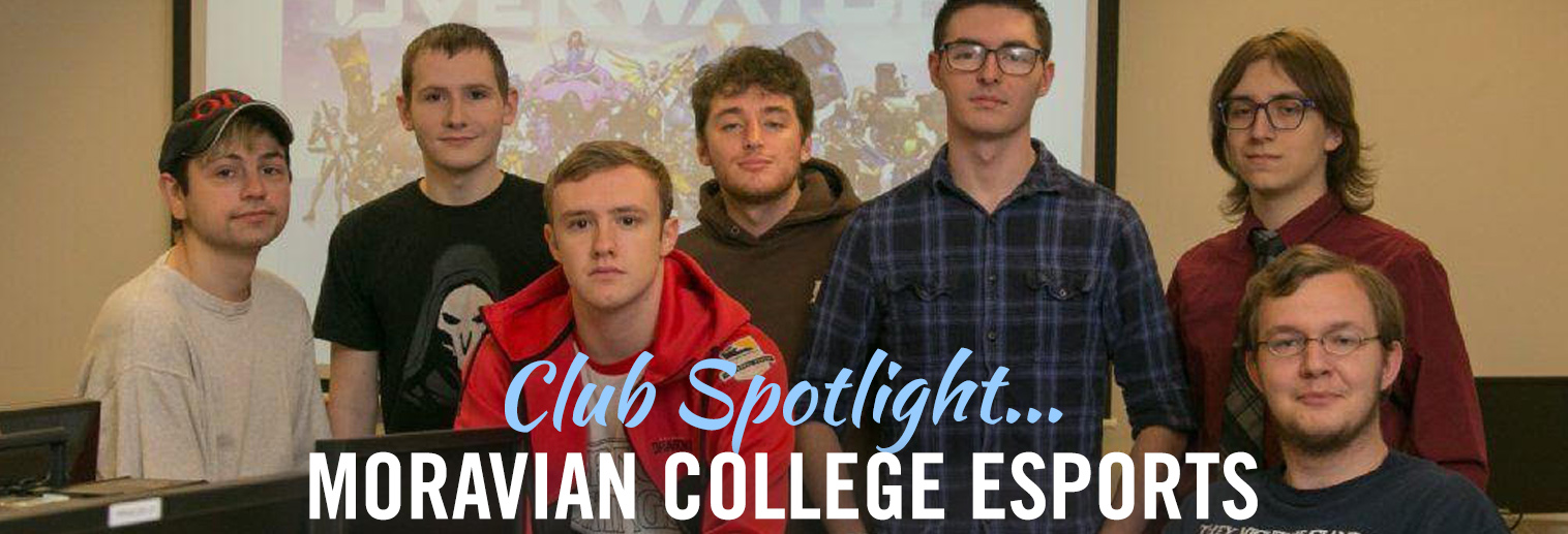 Students on the esports team at Moravian College