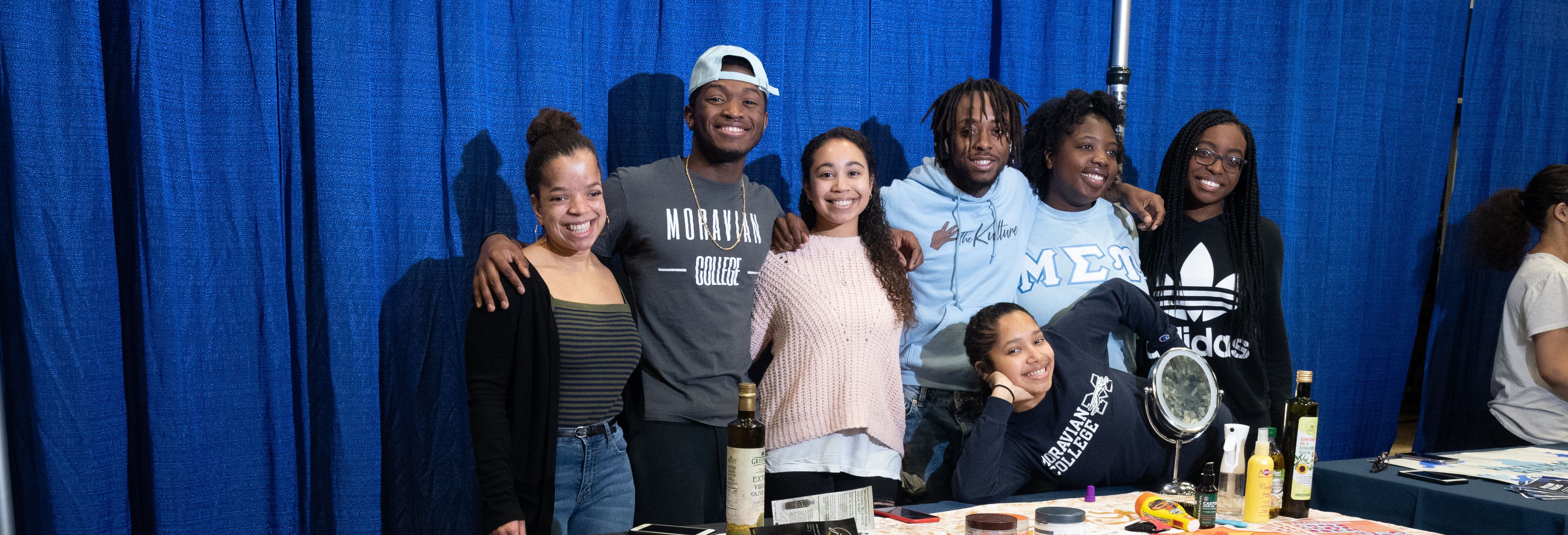 Black Student Union table at Accepted Students Day