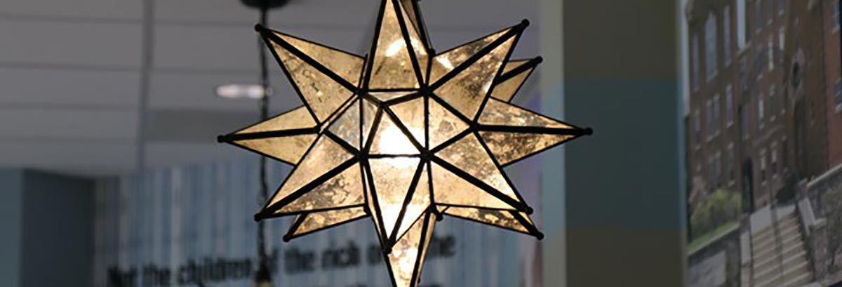 Moravian glass star in The Star Restaurant