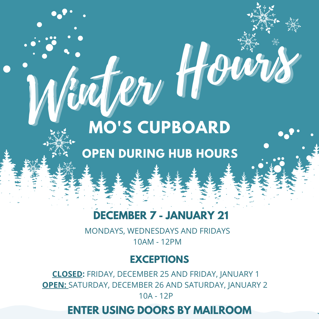 Mo's Cupboard Winter Hours