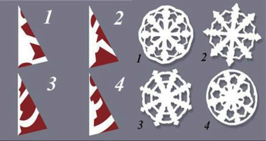 Как сделать снежинку из бумаги несложную