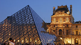 Click for More About Study Abroad, Pictured: Louvre Museum
