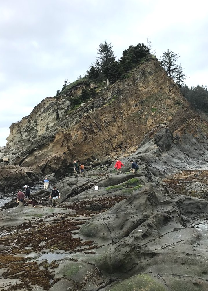 Moravian students at Cape Arago