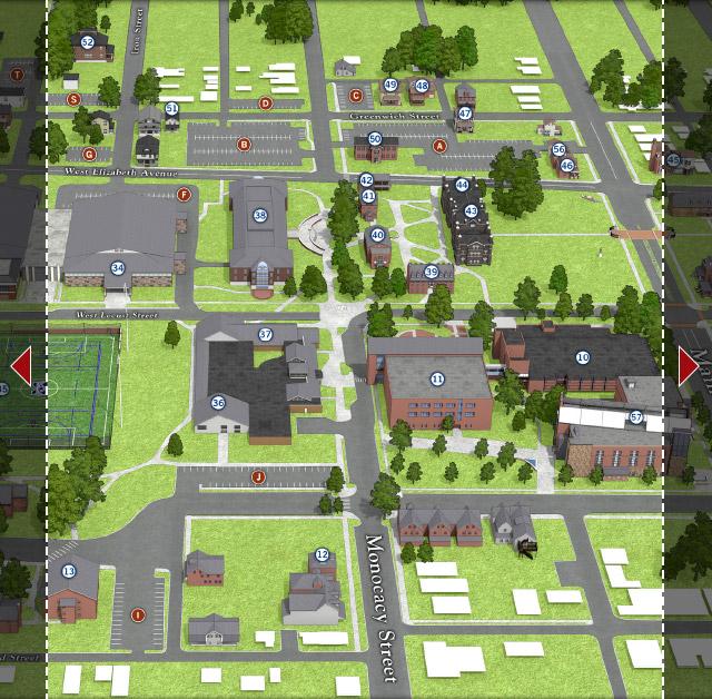 Moravian Campus Map.Main Street Campus Center Moravian College