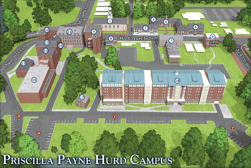 Moravian Campus Map.Priscilla Payne Hurd Campus Moravian College