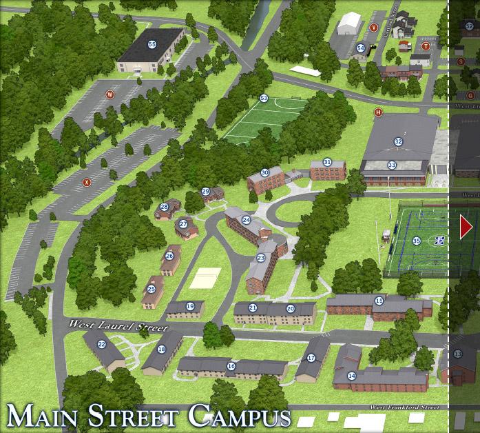 Moravian Campus Map.Main Street Campus Moravian College