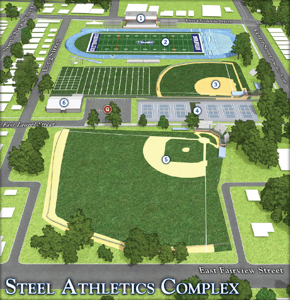 Moravian Campus Map.Steel Athletic Complex Moravian College