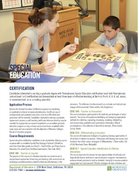 Special Education Certification