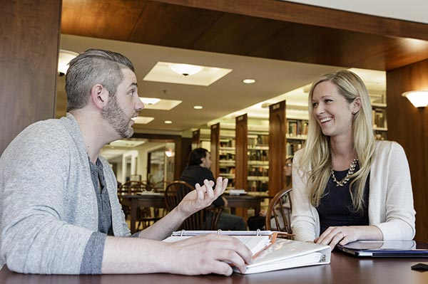 Student in Reeves Library