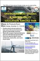 Environmental Studies and Sustainability Education Abroad Fair