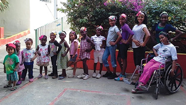 Residents of Jackie's House children's home outside of Santo Domingo