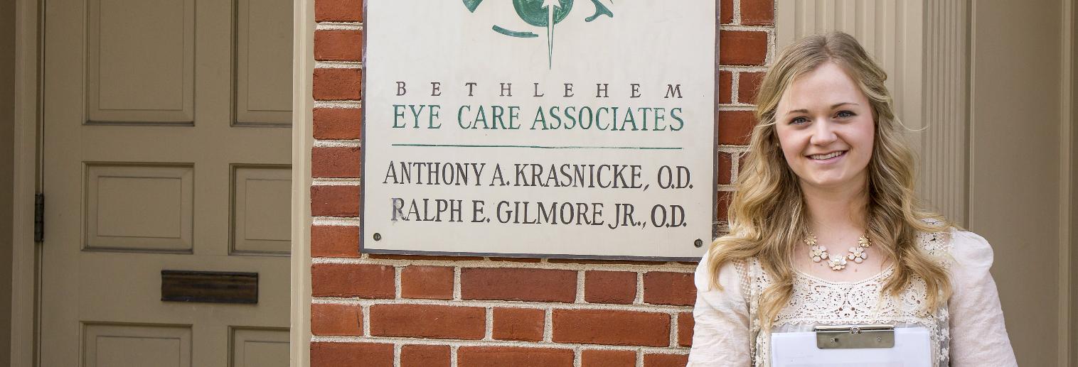 Moravian University Internship Spotlight: Morgan Calabrese '17 at Bethlehem Eye Care Associates