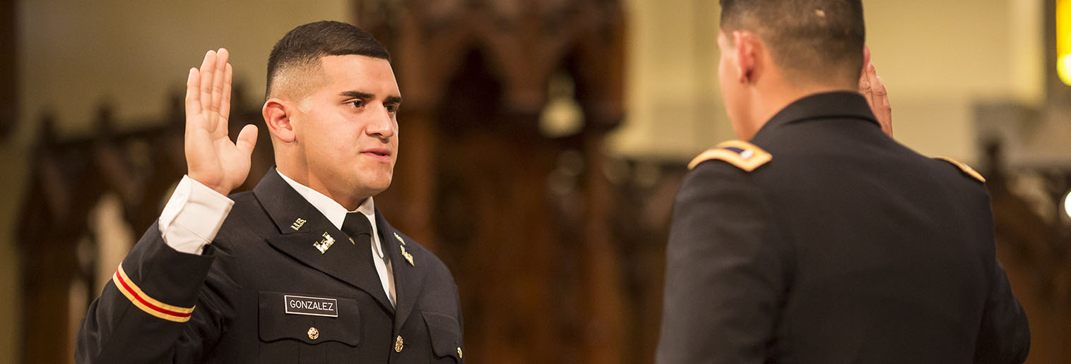 2LT Joshua Gonzalez Gets Commissioned from Moravian College ROTC Program