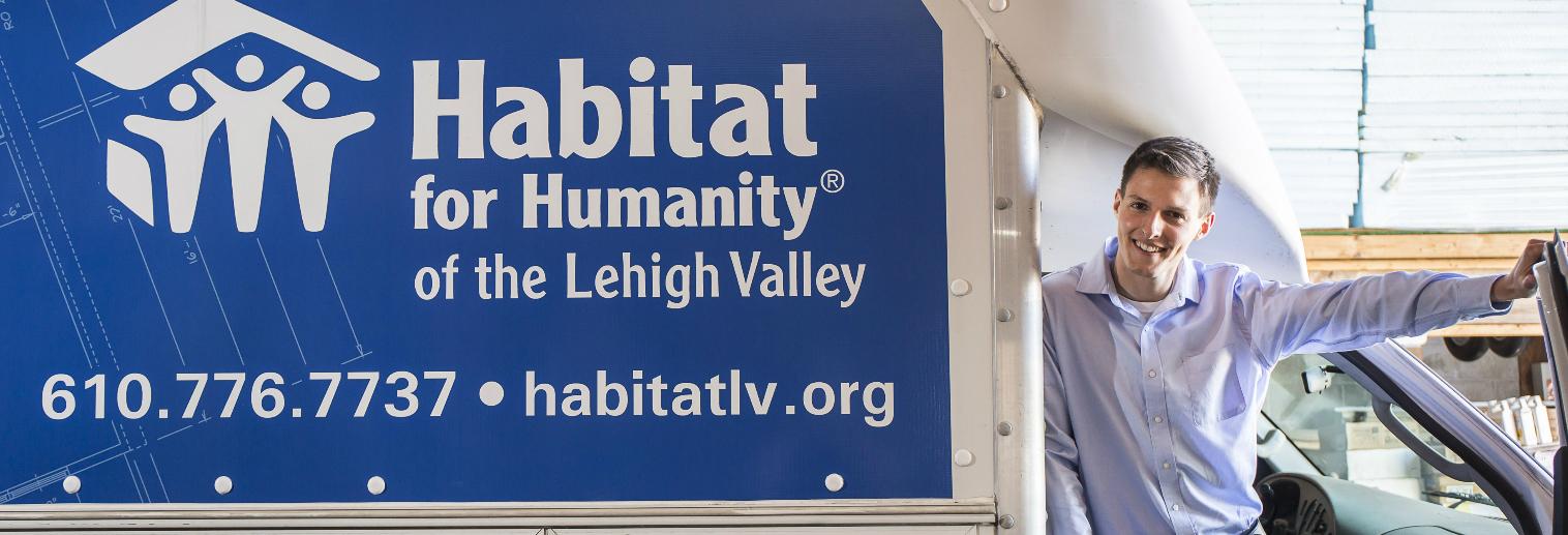Moravian University Internship Spotlight: Stephen Stoddard '16 at Habitat for Humanity of the Lehigh Valley