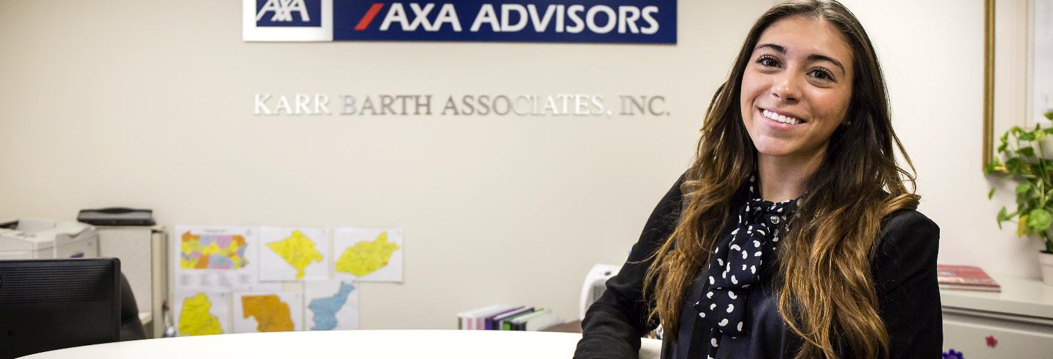 Moravian University Internship Spotlight: Natasha Zacarias '18 at AXA Advisors, Karr Barth Associates