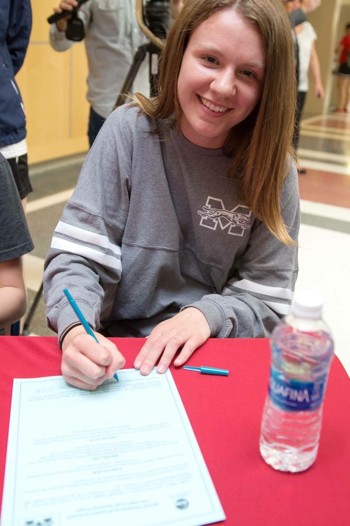"""Signing away to become a future Greyhound"""