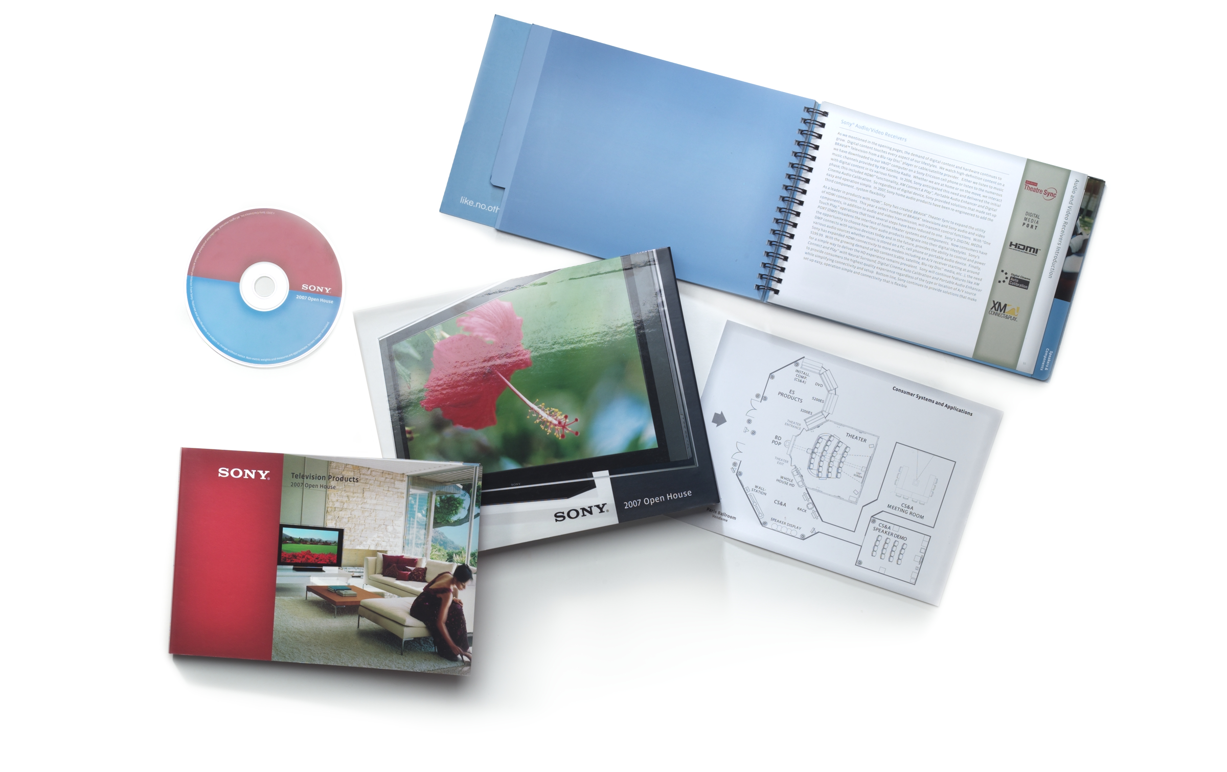 Sony Electronics Open House Sales Kit, 2009, Corporate Marketing Design