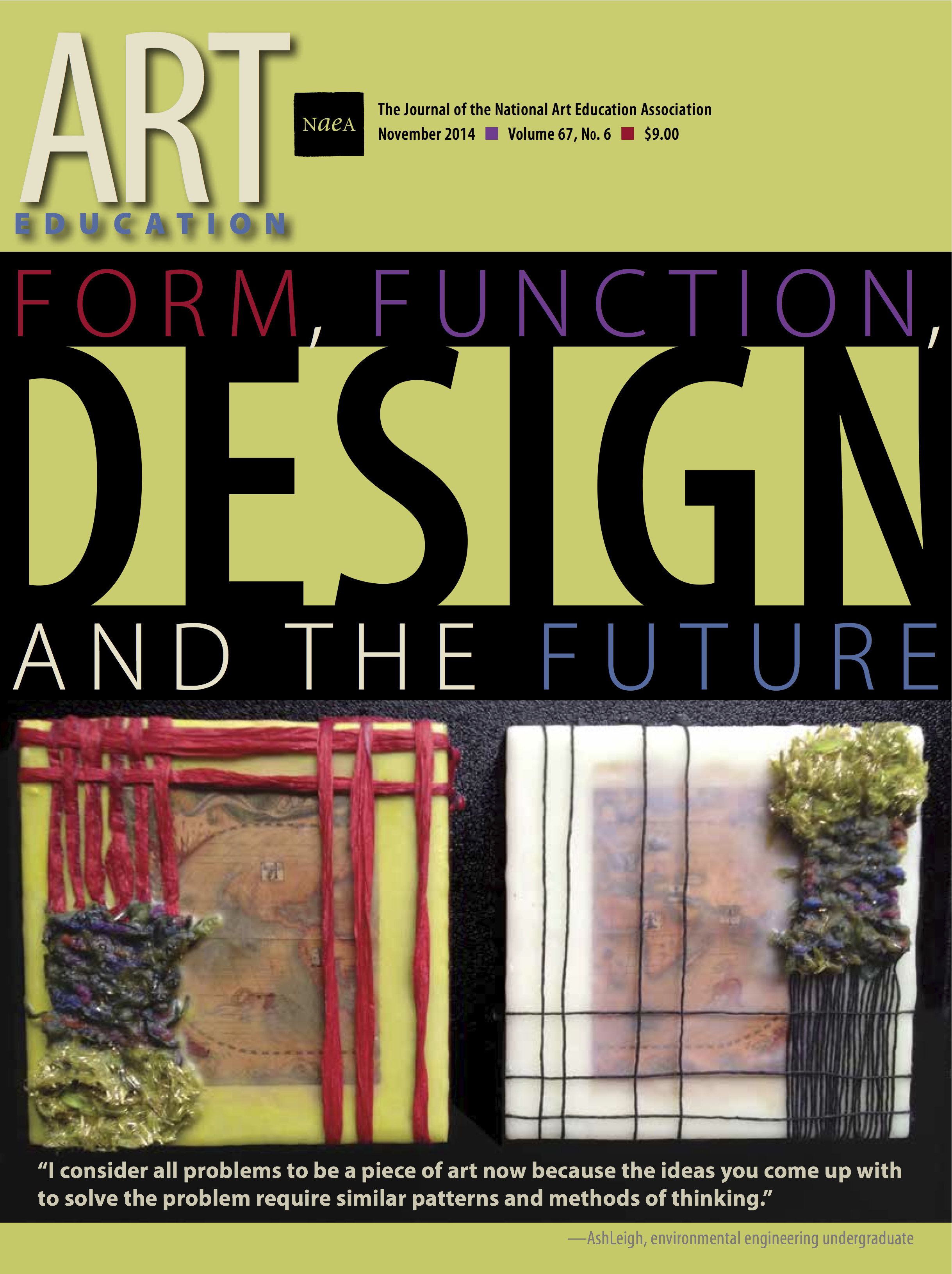 Art Education Journal Nov 2014 Cover Featuring Artwork by Dr. Baxter