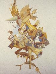 """""""Esmeralda,"""" 1987, cast paper collage"""