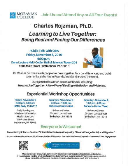 Charles Rojzman, Ph.D.  Learning to Live Together: Being Real and Facing Our Differences