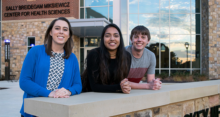 SOPHE selection students Prishaani Govender and Will Pelletiers and Assistant Professor Colleen Payton